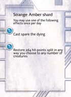 Strange Amber Shard - Custom Card