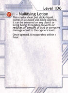 1 - Nullifying Lotion - Custom Card