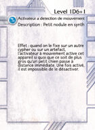 Activateur A Detection De Mouvement - Custom Card