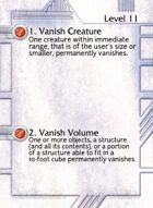 1. Vanish Creature - Custom Card