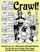 Crawl! no. 10 - Character Record Sheets