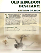 Old Kingdom Bestiary: The Mist Dragon