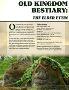 Old Kingdom Bestiary: The Elder Ettin