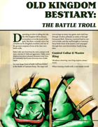 Old Kingdom Bestiary: The Battle Troll