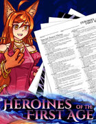 Heroines of the First Age Character & GM Sheets