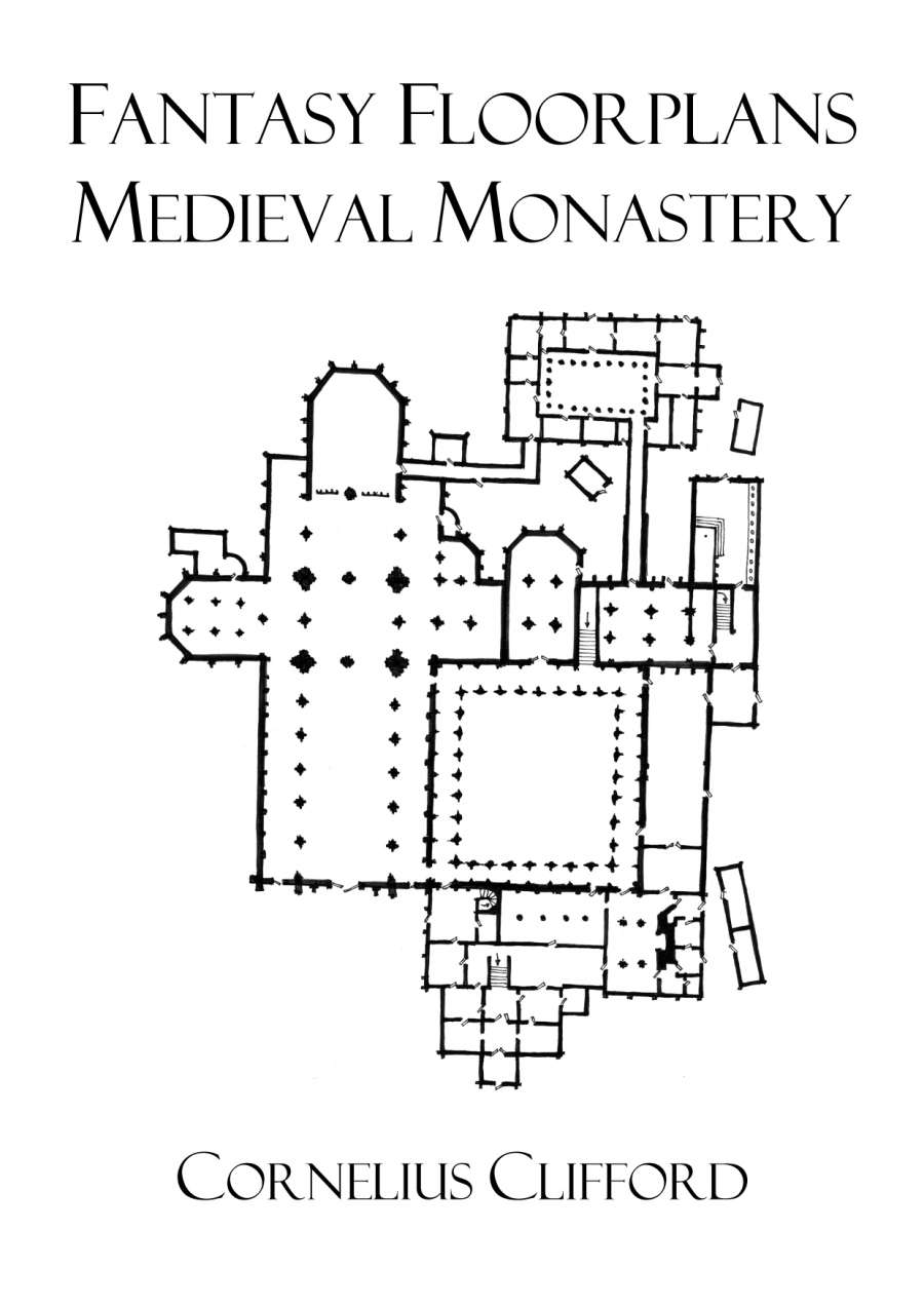 Medieval monastery fantasy floorplans dreamworlds for Fantasy house plans