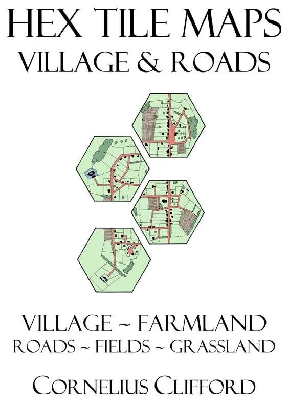 Hex Tile Maps - Village and Roads Pack - Dreamworlds | Wargame Vault