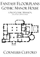 Gothic Manor House - Fantasy Floorplans