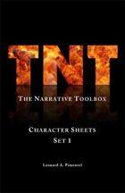 TNT (The Narrative Toolbox) Character Sheets Set 1