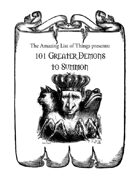 101 Greater Demons to Summon