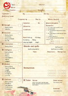 Fateforge - Character Sheet