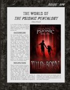 D6xD6 RPG The Psionic Pentalogy World Setting