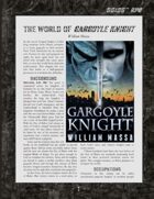 D6xD6 RPG Gargoyle Knight World Setting