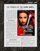 D6xD6 RPG The Dark Angel World Setting
