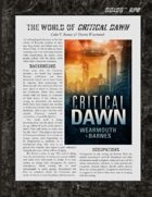 D6xD6 RPG Critical Dawn World Setting