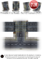 Wargame & RPG City Road Game Tiles