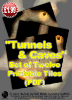 Tunnels & Caves #1 (Set of 12 tiles)