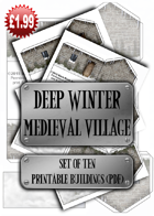 Deep Winter Medieval Village