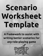 Scenario Worksheet Template