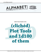 Alphabet Soup, GM Advice Document, 100 Clichéd Plot Devices