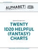 Alphabet Soup, GM Advice Document, Twenty 1d20 Helpful (Fantasy) Charts
