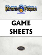 Mystic Forces Second Edition Game Sheets