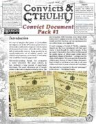 Convicts & Cthulhu: Convict Document Pack 1
