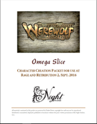 Mind's Eye Theatre: Werewolf The Apocalypse Omega Slice Playtest Rules