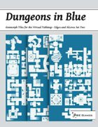 Dungeons in Blue - Edges and Alcoves Set Two