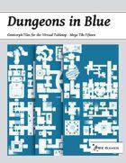 Dungeons in Blue - Mega Tile Fifteen