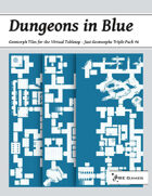 Dungeons in Blue - Just Geomorphs Triple Pack #6 [BUNDLE]