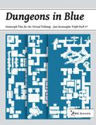 Dungeons in Blue - Just Geomorphs Triple Pack #7 [BUNDLE]