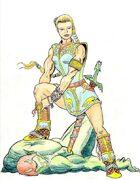 Fantasy Stock Art (Hero in Boots)