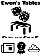 Ewen's Tables: Odds and Ends 2