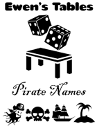 Ewen's Tables: Pirate Names