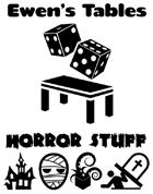 Ewen's Tables: Horror Stuff