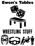 Ewen's Tables: Wrestling Stuff