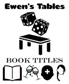 Ewen's Tables: Book Titles