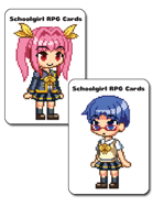 Schoolgirl RPG Cards