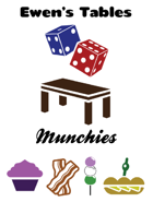 Ewen's Tables: Munchies