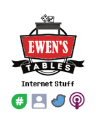 Ewen's Tables: Internet Stuff