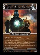 Golem Of The Hedron - Custom Card
