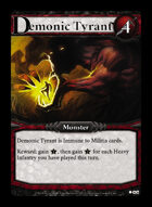 Demonic Tyrant - Custom Card