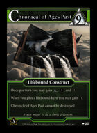 Chronicle Of Ages Past - Custom Card