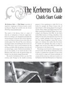 The Kerberos Club Quick-Start Guide
