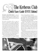 The Kerberos Club Quick-Start Guide (FATE Edition)