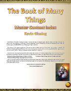 The Book of Many Things: Master Content Index