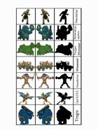 Figure Flats for the Sticks & Stones Prehistoric-ish Role-Playing Setting #2: Bigga Stuff!
