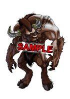 Stock Art: Minotaur - Bull headed monster