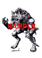 Image- Stock Art- Stock Illustration- Gnoll - Humanoid hyena